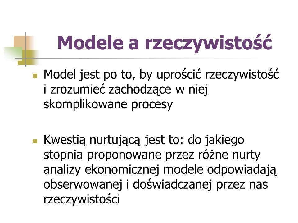 Modele a rzeczywistość