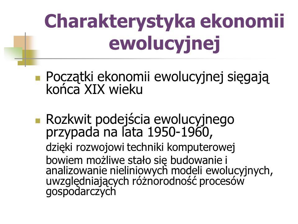 Charakterystyka ekonomii ewolucyjnej