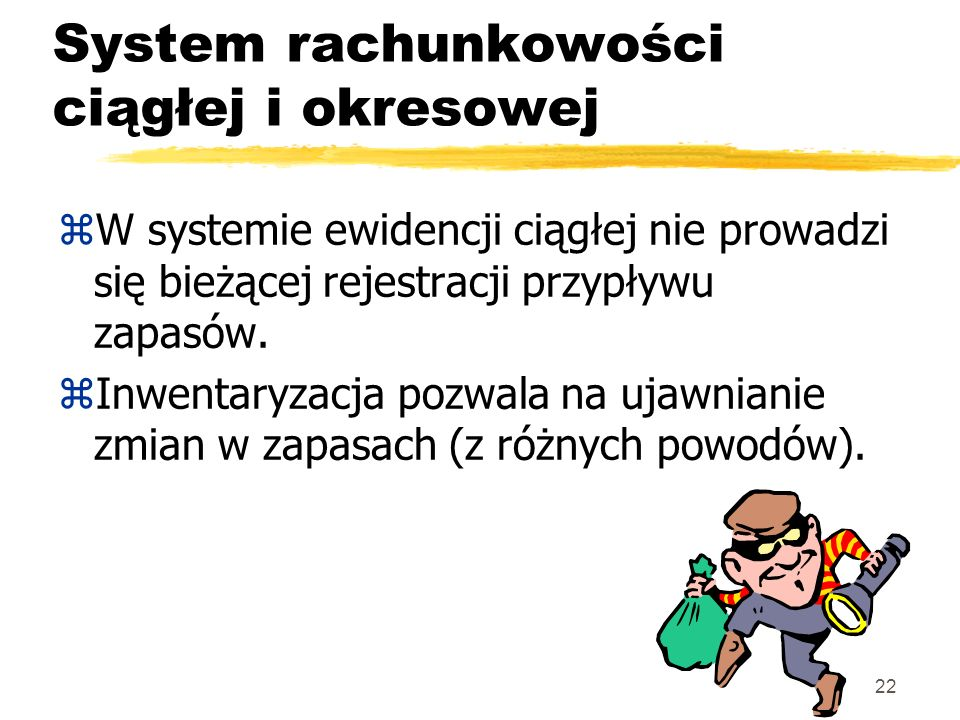 System rachunkowości ciągłej i okresowej