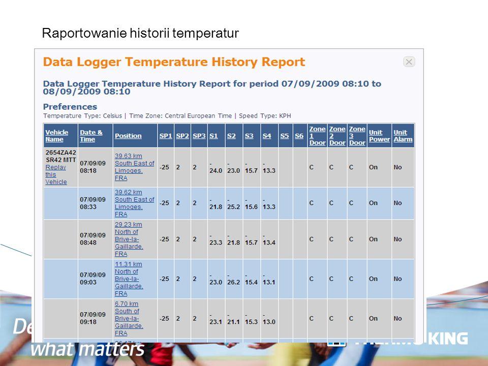 Raportowanie historii temperatur