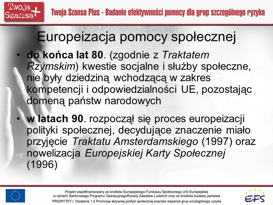 Europeizacja pomocy społecznej