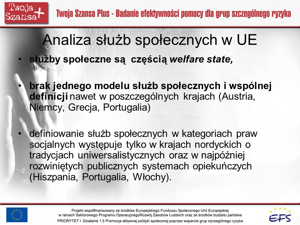 Analiza służb społecznych w UE