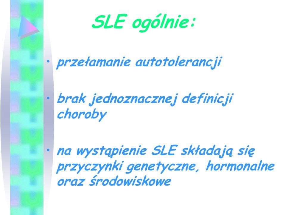SLE ogólnie: przełamanie autotolerancji
