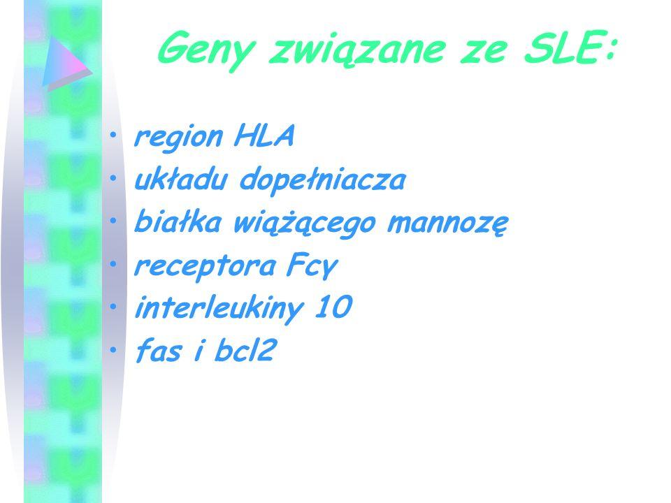 Geny związane ze SLE: region HLA układu dopełniacza