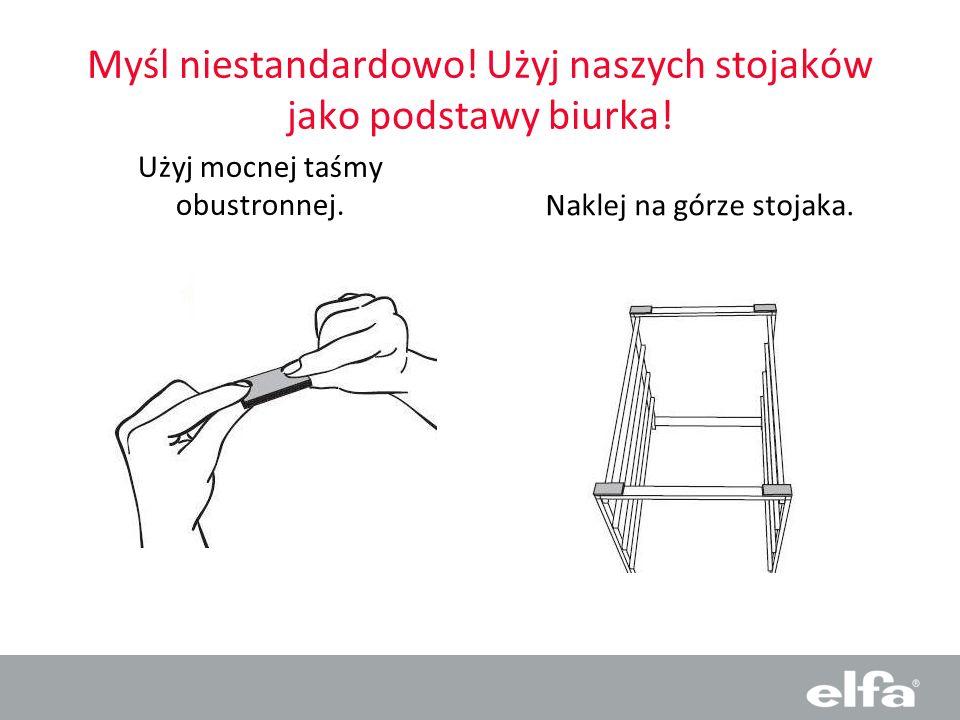 Myśl niestandardowo! Użyj naszych stojaków jako podstawy biurka!