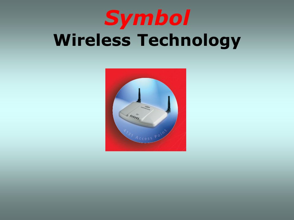 Symbol Wireless Technology