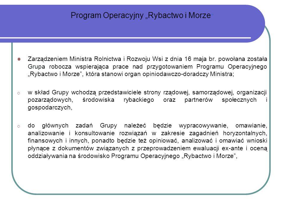 "Program Operacyjny ""Rybactwo i Morze"