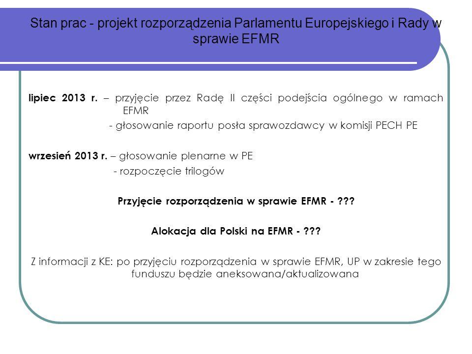 - głosowanie raportu posła sprawozdawcy w komisji PECH PE