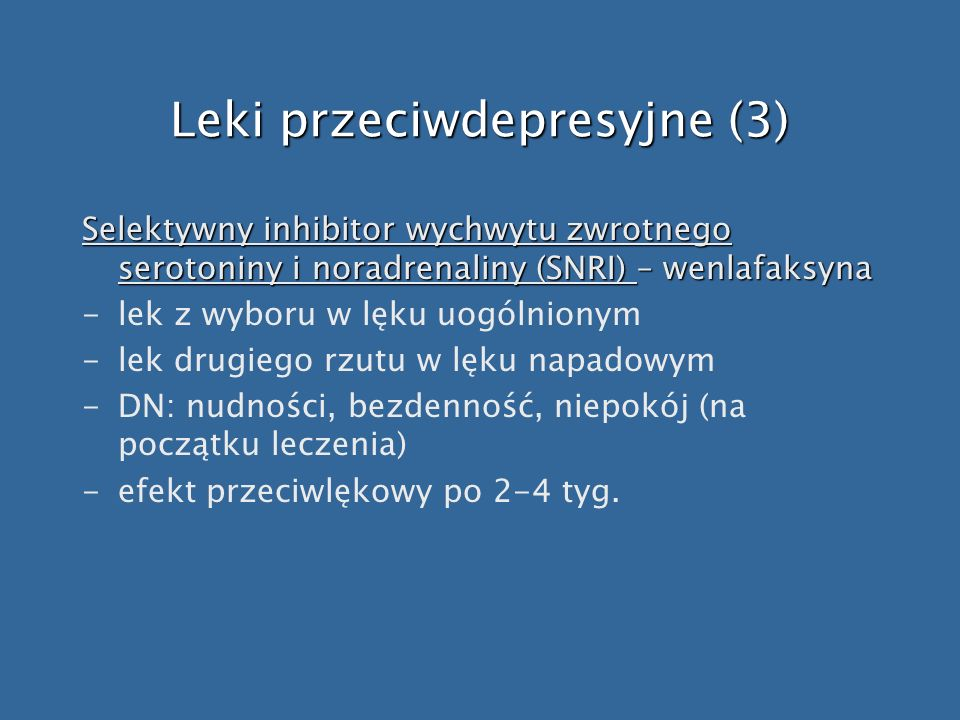 Leki przeciwdepresyjne (3)