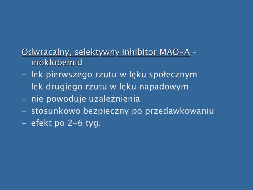 Odwracalny, selektywny inhibitor MAO-A – moklobemid