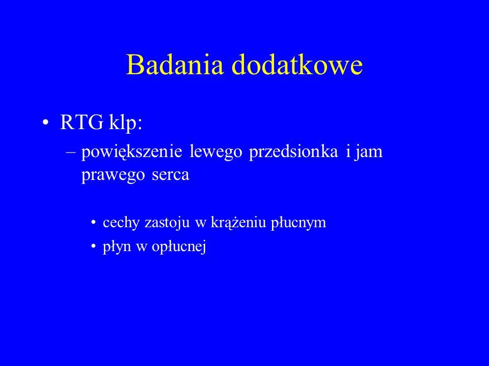 Badania dodatkowe RTG klp: