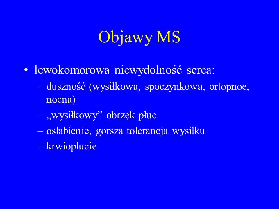 Objawy MS lewokomorowa niewydolność serca: