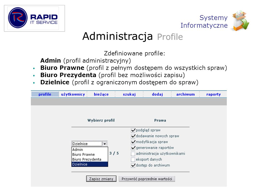 Administracja Profile
