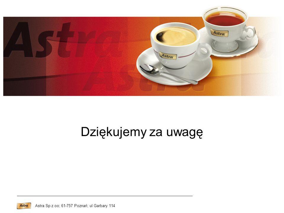 Dziękujemy za uwagę Astra Sp z oo; 61-757 Poznań; ul Garbary 114