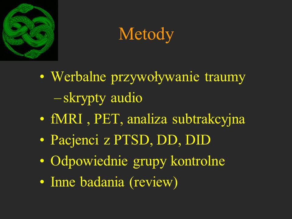Metody Werbalne przywoływanie traumy skrypty audio