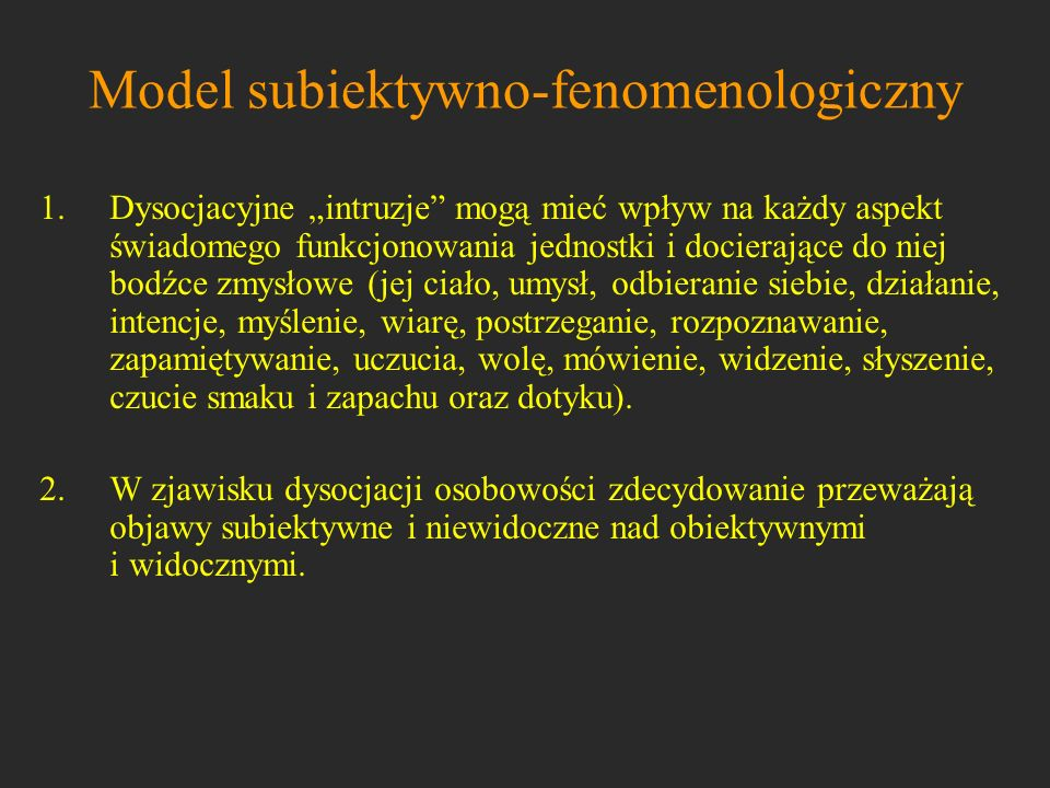Model subiektywno-fenomenologiczny
