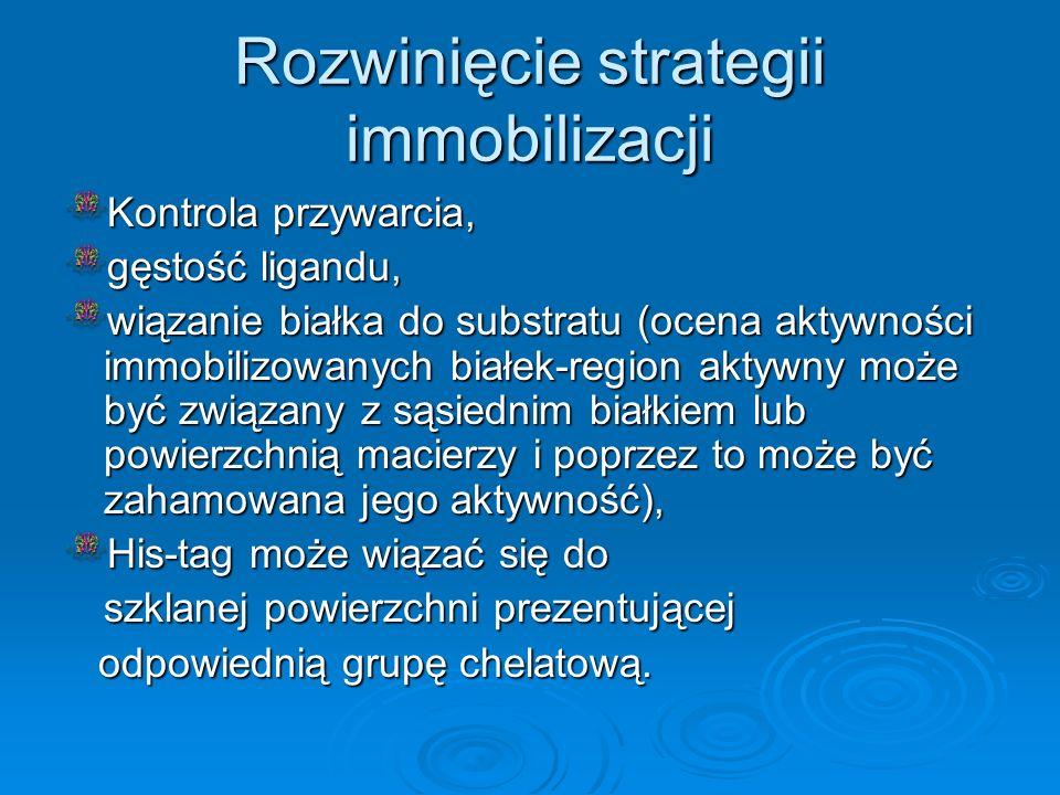 Rozwinięcie strategii immobilizacji