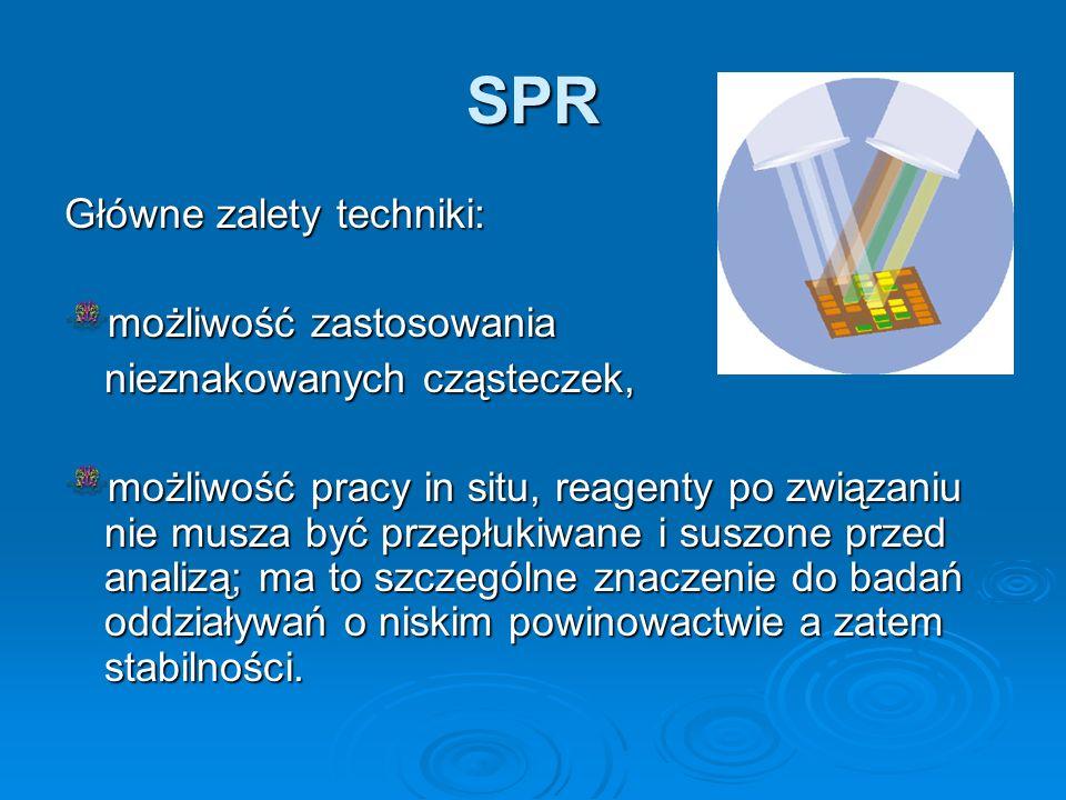 SPR Główne zalety techniki: możliwość zastosowania