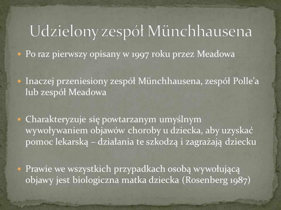 Udzielony zespół Münchhausena