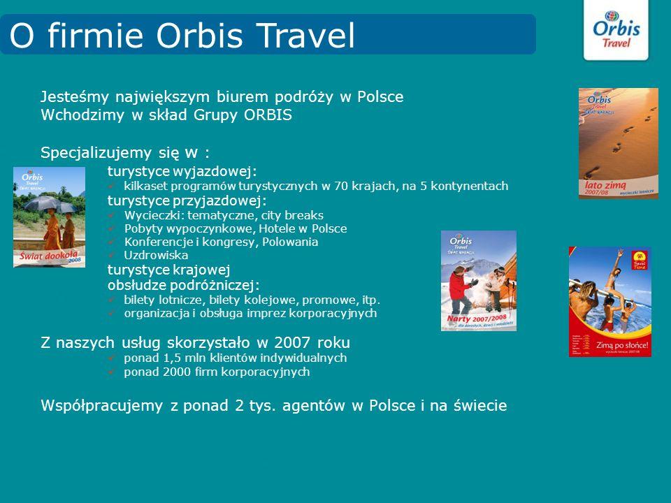 O firmie Orbis Travel Jesteśmy największym biurem podróży w Polsce