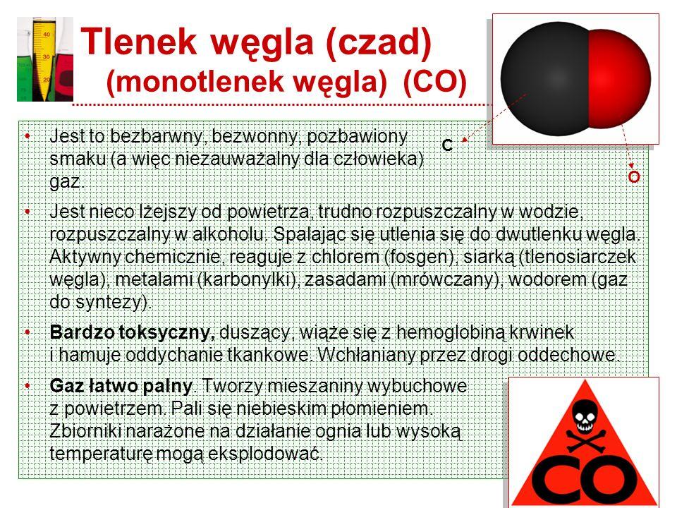 Tlenek węgla (czad) (monotlenek węgla) (CO)