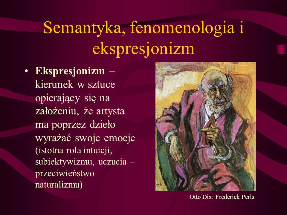 Semantyka, fenomenologia i ekspresjonizm