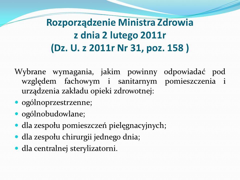 Rozporządzenie Ministra Zdrowia z dnia 2 lutego 2011r (Dz. U