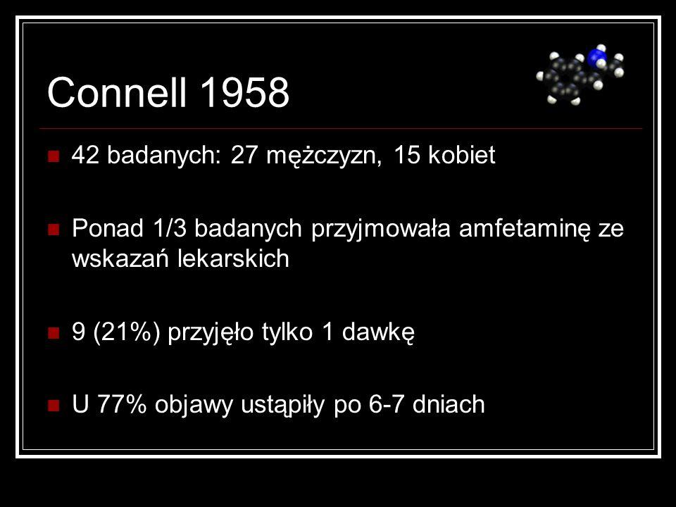 Connell 1958 42 badanych: 27 mężczyzn, 15 kobiet