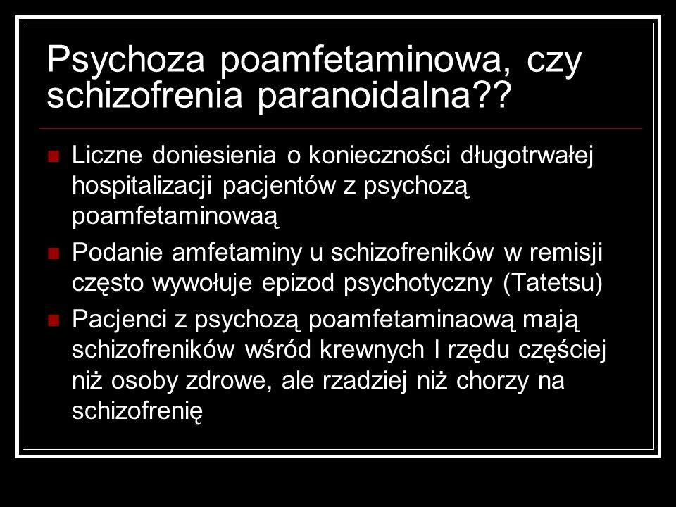 Psychoza poamfetaminowa, czy schizofrenia paranoidalna