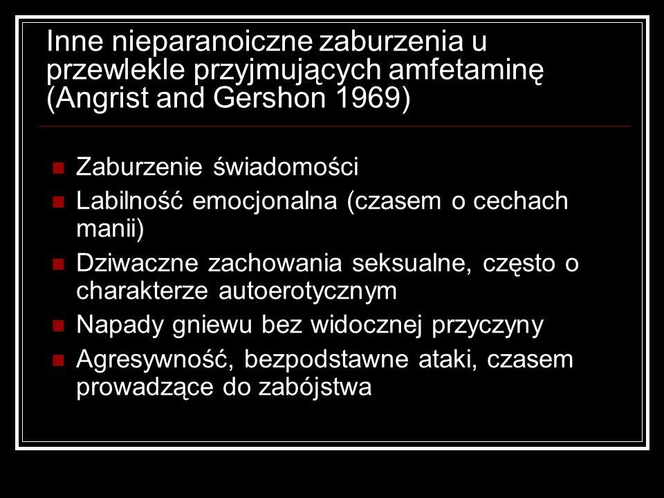 Inne nieparanoiczne zaburzenia u przewlekle przyjmujących amfetaminę (Angrist and Gershon 1969)