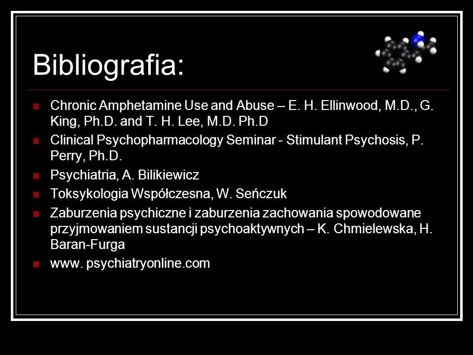 Bibliografia:Chronic Amphetamine Use and Abuse – E. H. Ellinwood, M.D., G. King, Ph.D. and T. H. Lee, M.D. Ph.D.