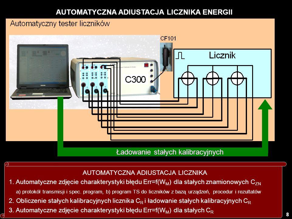 AUTOMATYCZNA ADIUSTACJA LICZNIKA ENERGII