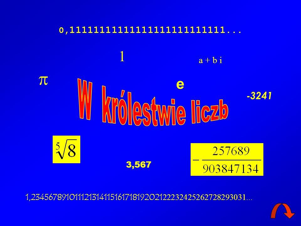  1 e W królestwie liczb 0,11111111111111111111111111... a + b i -3241