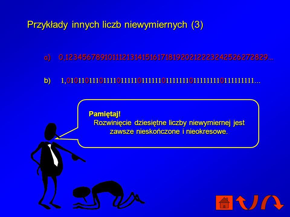 Przykłady innych liczb niewymiernych (3)