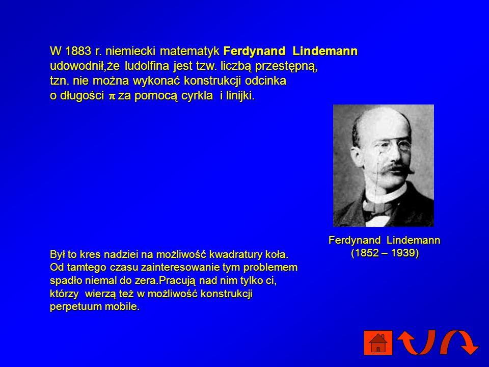 Ferdynand Lindemann (1852 – 1939)