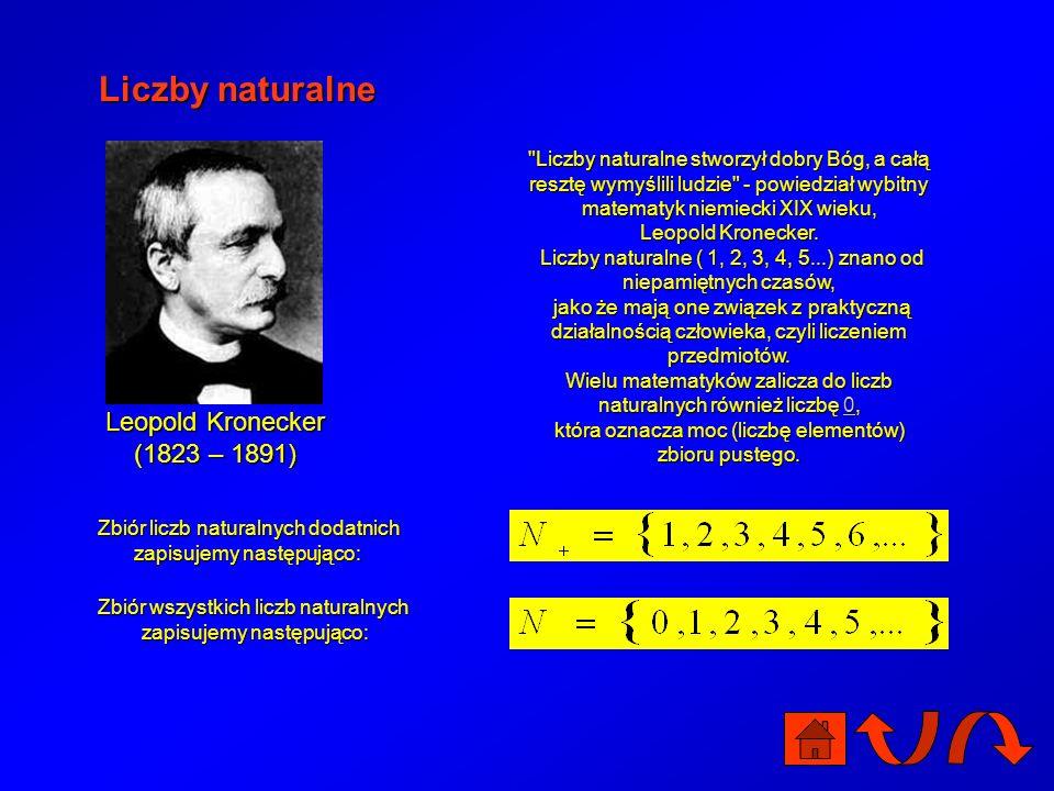 Liczby naturalne Leopold Kronecker (1823 – 1891)