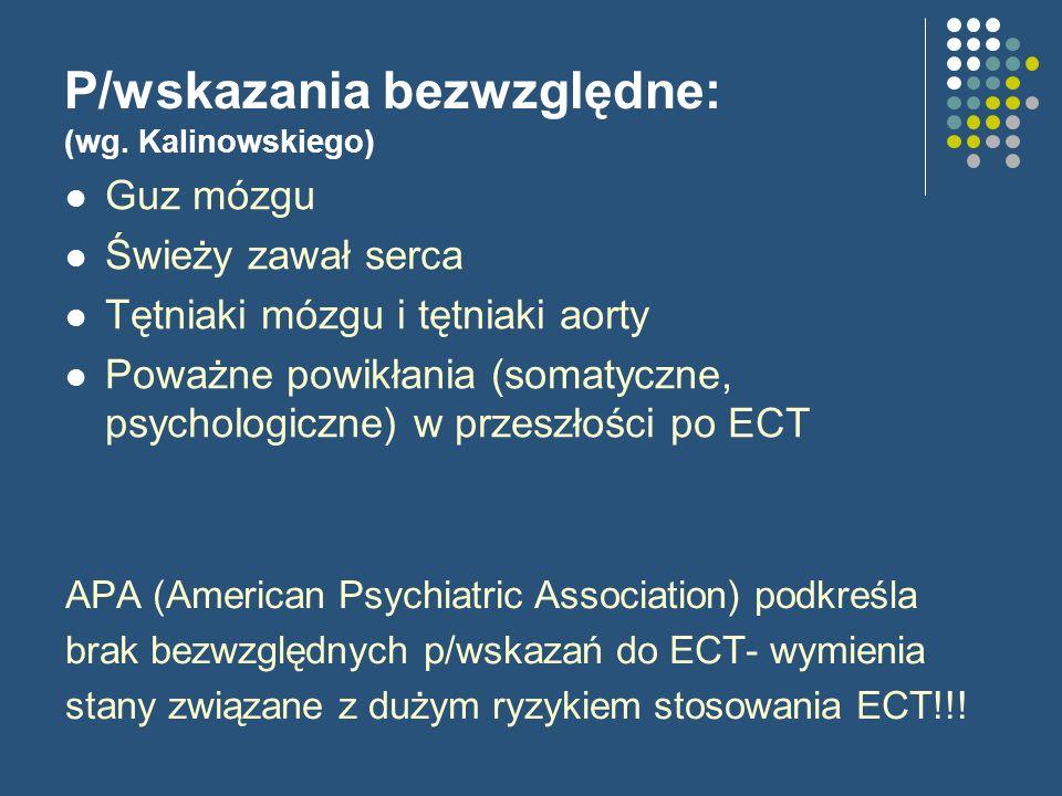 P/wskazania bezwzględne: (wg. Kalinowskiego)