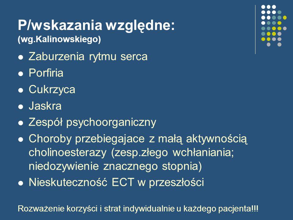 P/wskazania względne: (wg.Kalinowskiego)