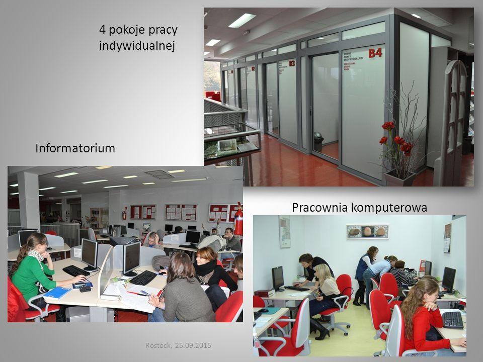 4 pokoje pracy indywidualnej
