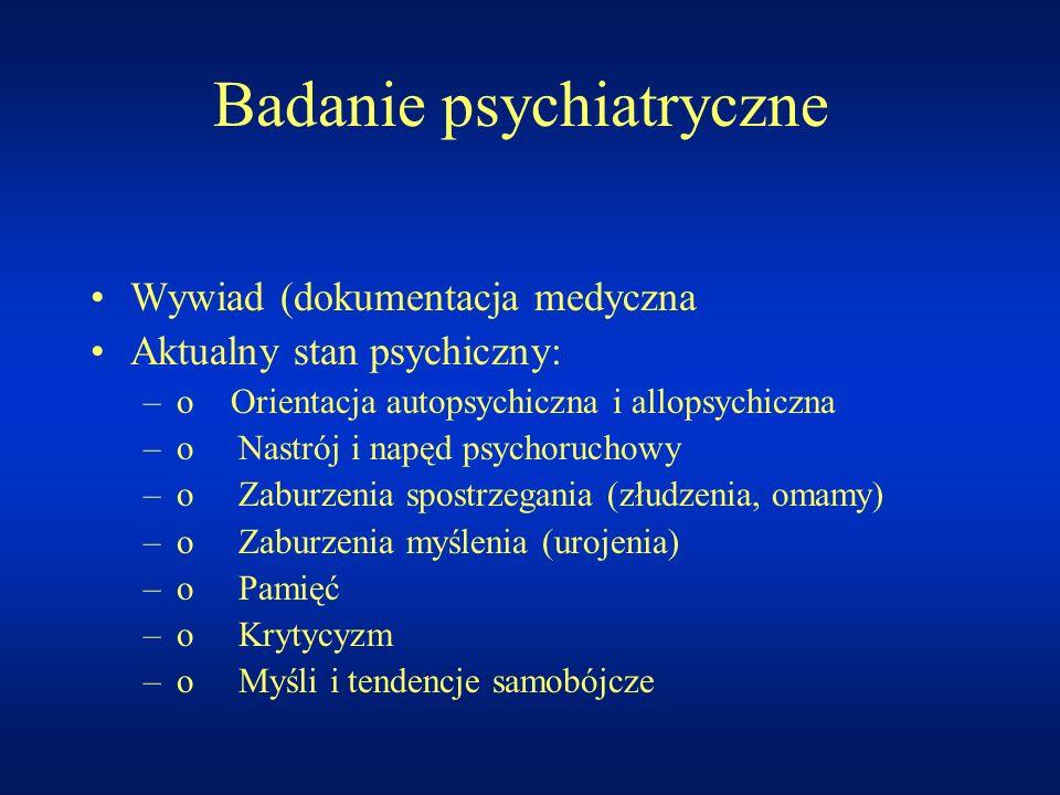 Badanie psychiatryczne