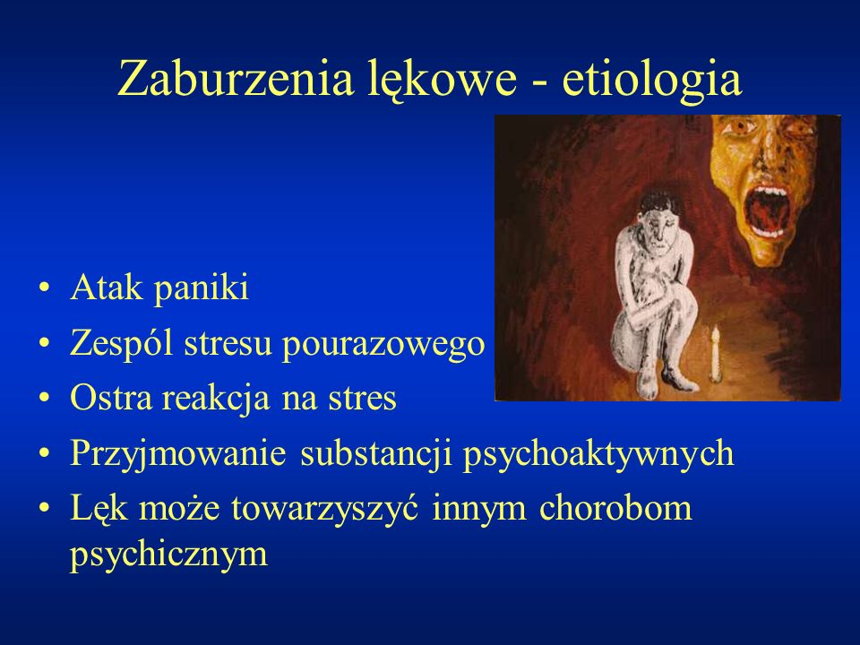 Zaburzenia lękowe - etiologia