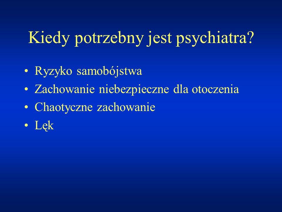Kiedy potrzebny jest psychiatra