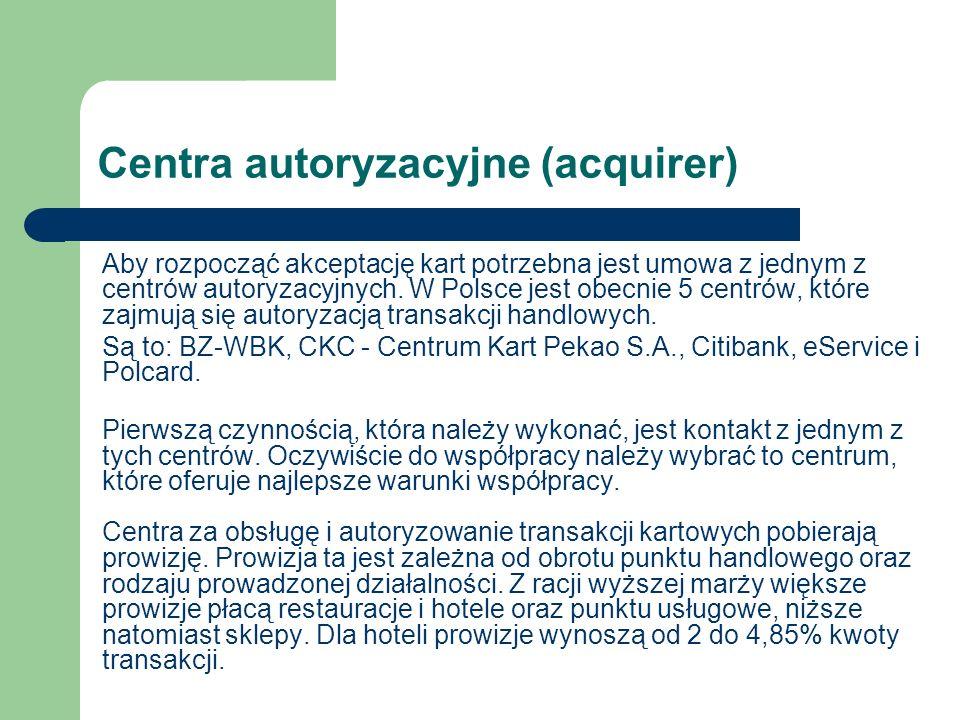 Centra autoryzacyjne (acquirer)