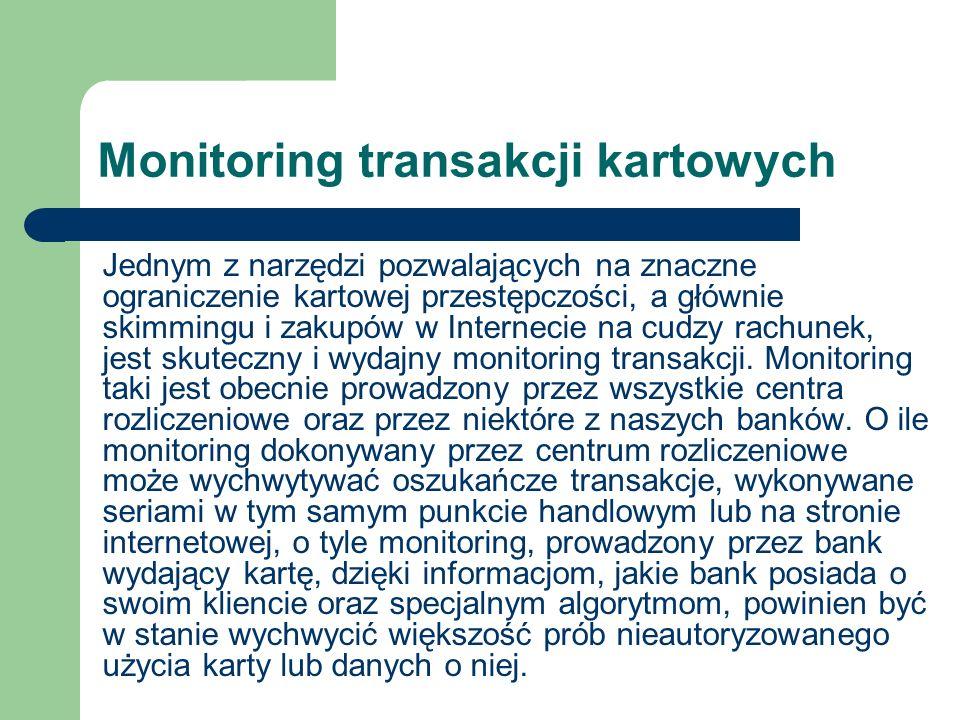 Monitoring transakcji kartowych