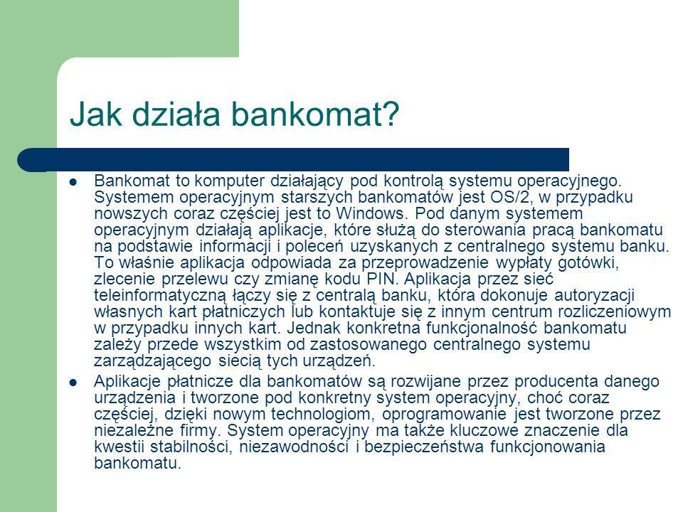 Jak działa bankomat