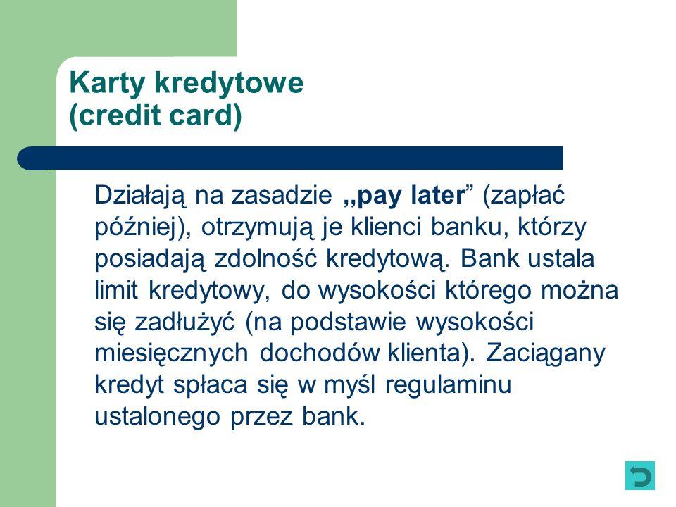 Karty kredytowe (credit card)