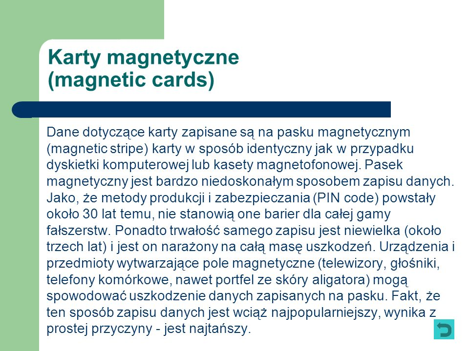 Karty magnetyczne (magnetic cards)