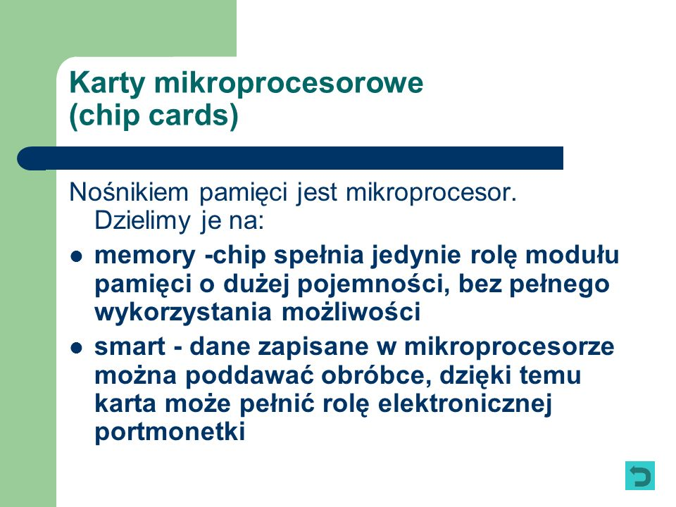 Karty mikroprocesorowe (chip cards)