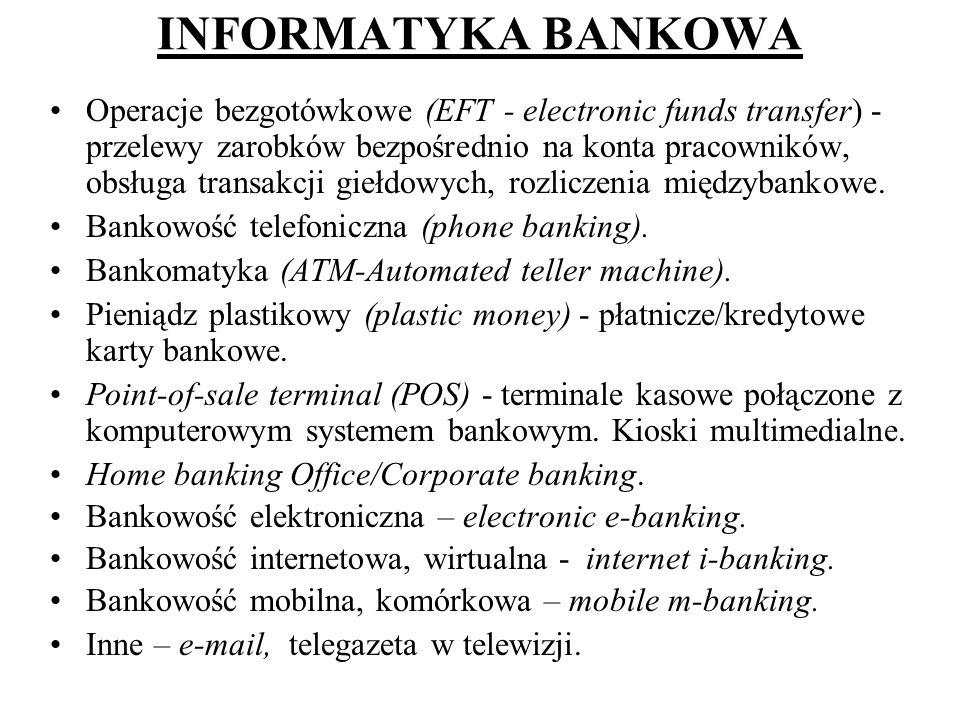 INFORMATYKA BANKOWA
