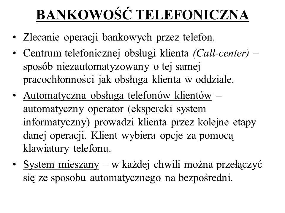 BANKOWOŚĆ TELEFONICZNA
